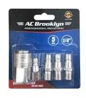 "AC Brooklyn 1/4"" 5pc Quick Coupler"