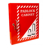 Red Lockout Padlock Cabinet (HWD: 460 x 390 x 55mm)