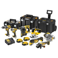 DeWalt 18V 7PC Cordless Kit - 3 X 5AH Batteries