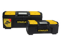 Stanley One Touch DIY Toolbox 2 Pack 1 x 41cm (16in) & 1 x 60cm (24in)
