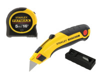 Stanley FatMax Triple Pack - Tape, Retractable Knife and Blades