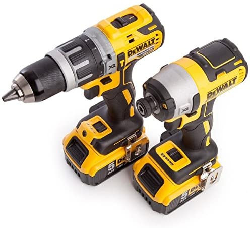 DeWalt 18V XR Cordless Brushless Combi Drill & Impact Driver Twin Pack 2 x 4.0Ah (DCK266M2T-GB)