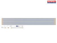 Faithful 10m Cable Rod Set 15 Piece