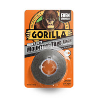 Gorilla Double-Sided Mounting Tape 25.4mm x 1.52m (Black) (GRGHDMT)