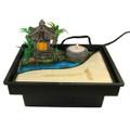 Zen Garden Table Water Fountain w/ Pavilion
