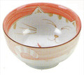 Smiling Pink Cat Porcelain Soup Bowl 6in