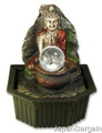 Buddha Table Water Fountain Crystal Ball w/ Light