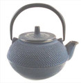 Blue Hobnail Cast Iron Teapot 15oz