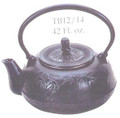 Black Bamboo Cast Iron Teapot 42oz