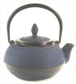 Blue Hobnail Cast Iron Teapot 24oz