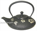 Black Plum Blossom Cast Iron Teapot 18oz