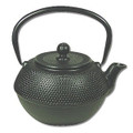Black Hobnail Cast Iron Teapot 38oz