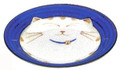 Smiling Blue Cat Porcelain Dish 6-1/2in