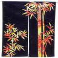 Color Bamboo Noren Doorway Curtain 33x35in