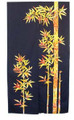 Color Bamboo Noren Doorway Curtain 33x59in