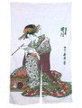 Noren Doorway Curtain Ukiyoe by Utagawa 33x59in
