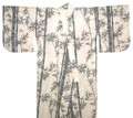 Japanese Men's Yukata Robe w/Bamboo & Bird