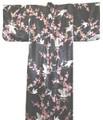 Japanese Women's Kimono Robe w/ Ume Crane