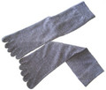 Five Toe Tabi Sock Unisex Grey