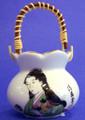 Porcelain Geisha Toothpick Holder D