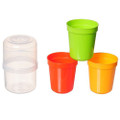 Japanese 5pc Plastic Cup Set with Holder