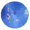 Blue Oriental Parasol 32in