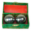 Baoding Balls Chinese Health Exercise Stress Balls Chrome Color