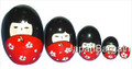 Red Matryoshka Kokeshi Nesting Doll