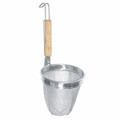 Large Stainless Steel Udon Noodle Skimmer w/Wooden Handle