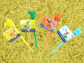 Pokemon Pikachu Plastic Food Fruit Picks 12pcs