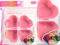 Heart Shape Silicon Food Cup for Bento Box 4pc