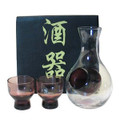 Glass Sake Set Purple