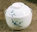 Bamboo Melamine Plastic Miso Soup Bowl w/Lid