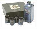 Porcelain Dragonfly Sake Set