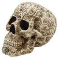 Decorative Ornate Rose Flower Skull Figurine