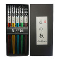 Japanese Style 5 Pair Reusable Sakura 5 Color Wooden Chopsticks Set