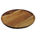 """Premium Acacia Wooden Food Serving Charger Plate Platter Round Wooden Tea Tray Snack Platter 12.5""""x12.5"""""""