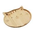 Natural Bamboo Cat Serving Tray for Snacks Appetizer Fruit Vegetable | Food Platter | Picnic Kitchen Party | Eco-Friendly Plates