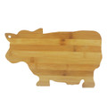 "Bamboo Wood Cow Cutting Board Cow Shaped Serving Board 13.5"" x 9"""