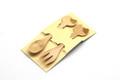 Set of 2 Kitty Cat Themed Bamboo Spoon and Fork Set for Kids Appetizer Fruit Dessert Ice Cream Yogurt Spice Salt Sugar