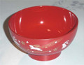 Plastic Rice Bowl Bunny Red