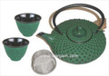 Shogun Cast Iron Tea Set Green