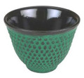 Hobnail Cast Iron Teacup Green