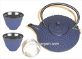 Shogun Cast Iron Tea Set Blue