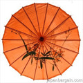 Dark Orange Oriental Parasol 32in