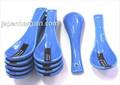 1x Blue Porcelain Soup Spoons