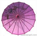 Purple Oriental Parasol 32in