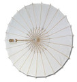 White Paper Wedding Party Parasol 32in
