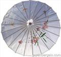 White Oriental Parasol 32in