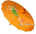 Dark Orange Transparent Japanese Parasol 30in